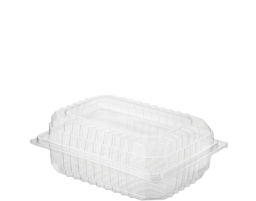 Clearview® Plastic Food Containers with Hinged Lid (Small Salad)