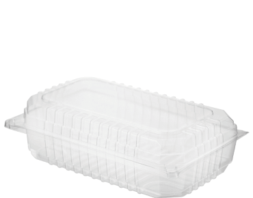 Clearview® Plastic Food Containers with Hinged Lid (Large Salad)