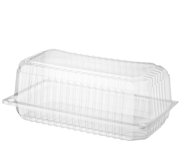 Bakery Plastic Storage Containers with Lid (Bar Cake)
