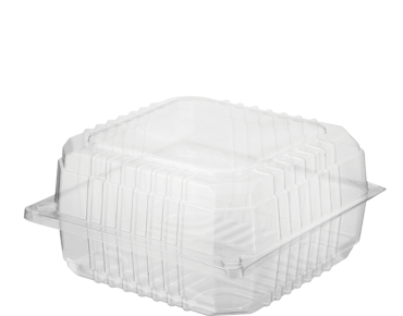 Clearview® Plastic Food Containers with Hinged Lid (Jumbo Burger)