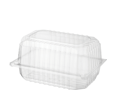 Clearview® Plastic Food Containers with Hinged Lid (Small Bakery Pack)