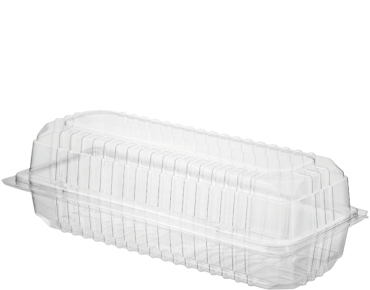 Clearview® Plastic Food Containers with Hinged Lid (Large Roll)