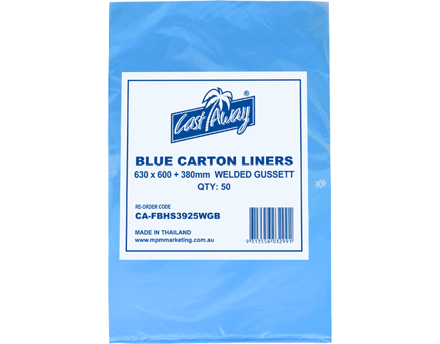 Carton Liners with Welded Gusset (Blue)