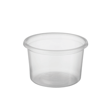 Reveal Clear Round Portion Control Plastic Containers (Small)