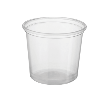 Reveal Clear Round Portion Control Plastic Containers (Medium)
