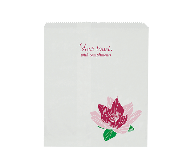 Hotel Toast Paper Bags with 'Floral' Print