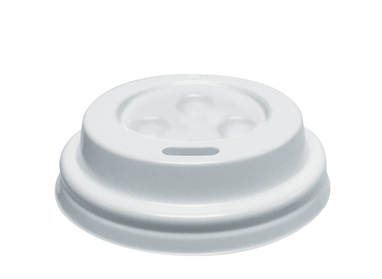 Takeaway Coffee Cup Lids (White, Espresso / Babycino 4oz)