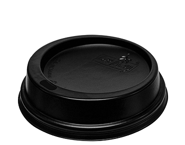 Takeaway Coffee Cup Classic SnapOn Lid (Black 6-8oz)