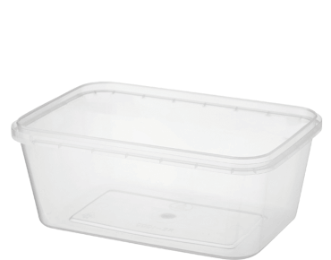 Locksafe Rectangular Tamper Evident Plastic Containers (1000 ml)