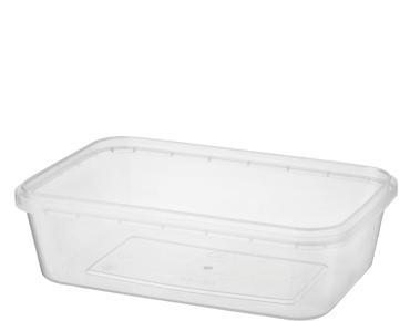 Locksafe Rectangular Tamper Evident Plastic Containers (750 ml)