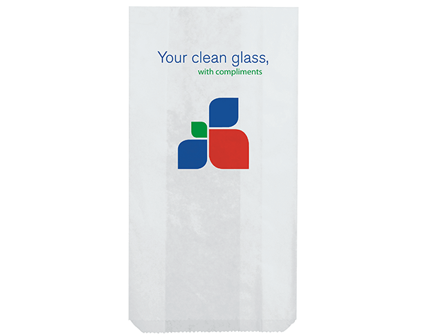 Hotel Takeaway Paper Bags for Glass with 'Nova' Print