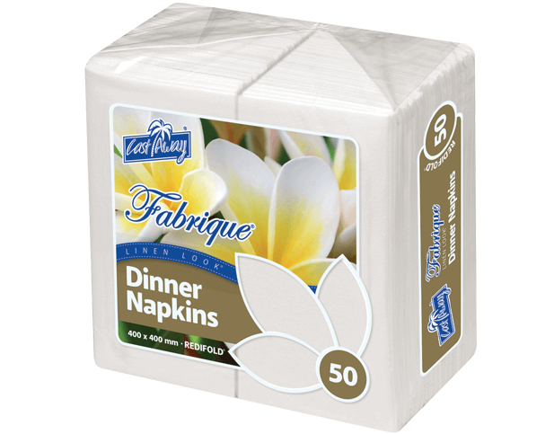 Fabrique® Folding Napkins for Dinner (RediFold® White)