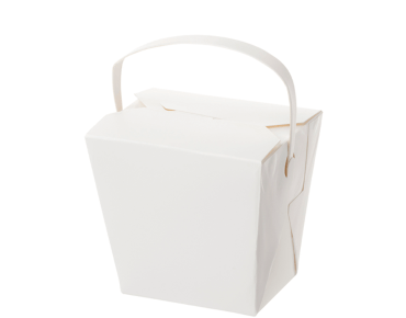 Food Pails with Handles (White 16oz) | Takeaway Food Box