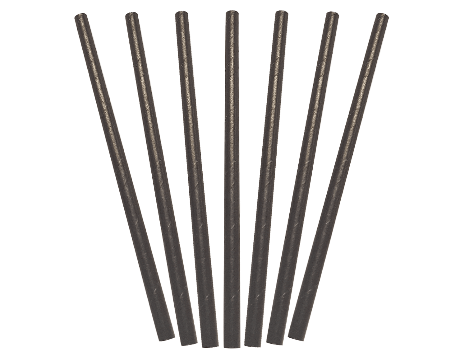 Paper Cocktail Straws, Black