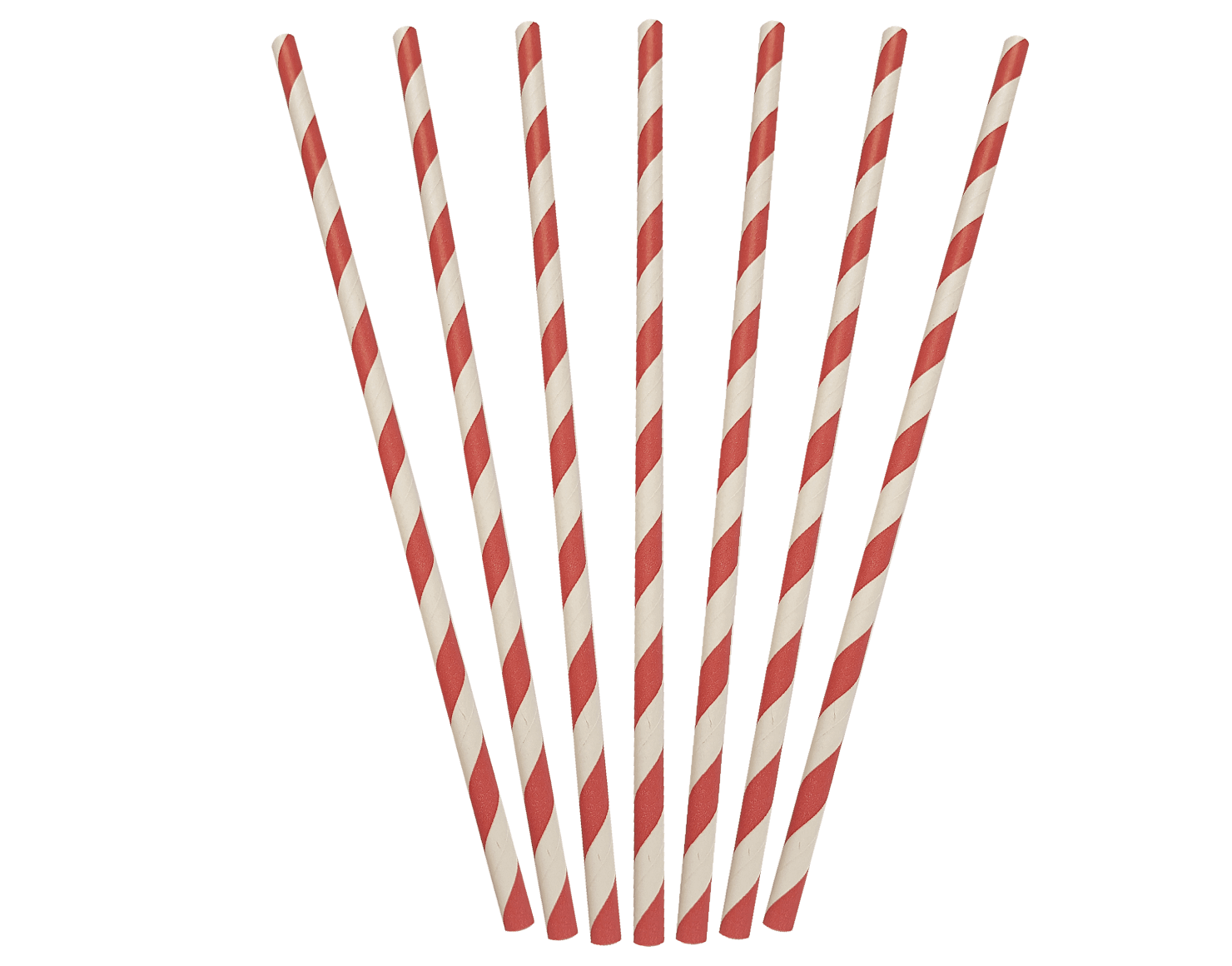 Regular Paper Straws - Red & White Stripes