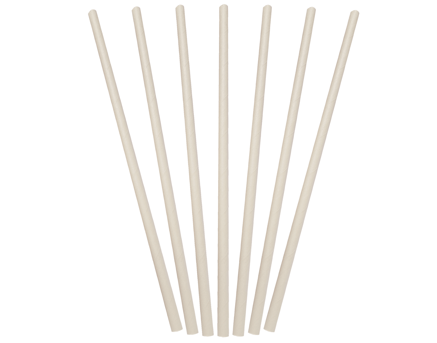 White Regular Paper Straws