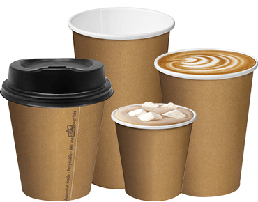 Single Wall Takeaway Paper Coffee Cups (Brown Kraft 12oz ...