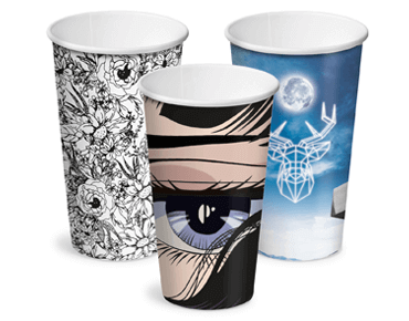 Creative Collection 16 oz Classic Single Wall Paper Coffee Cups