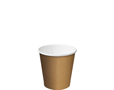 Single Wall Takeaway Paper Coffee Cups (Brown Espresso / Babycino 4oz)