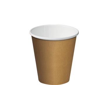 Single Wall Takeaway Paper Coffee Cups (Brown Kraft 8oz)