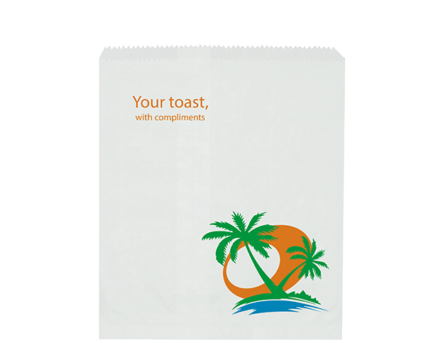 Hotel Toast Paper Bags with 'Tropic' Print