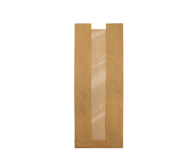 Window Paper Bags, Loaf | Brown Kraft