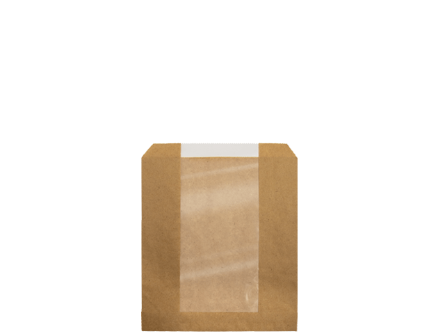 Window Paper Bags, Single-Serve| Brown Kraft