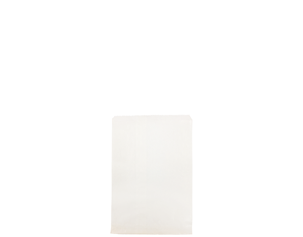 Flat White Paper Bags (Size #1 Square)