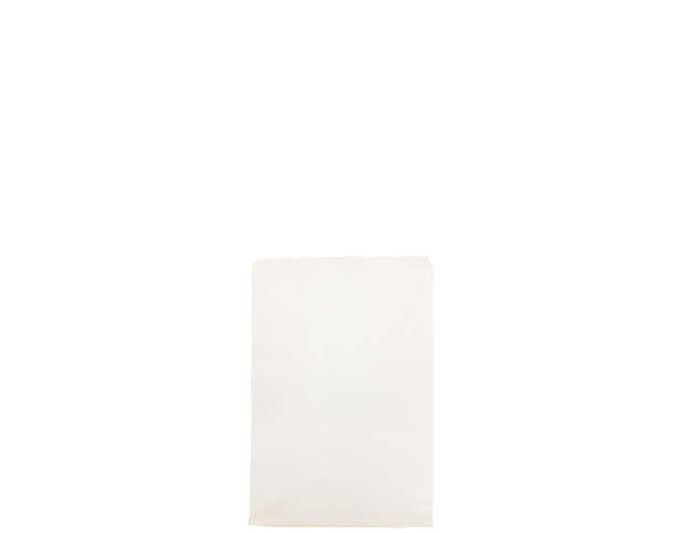 Flat White Paper Bags (Size #1)
