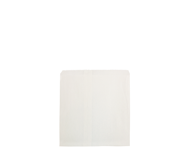 Flat White Paper Bags (Size #2 Square)