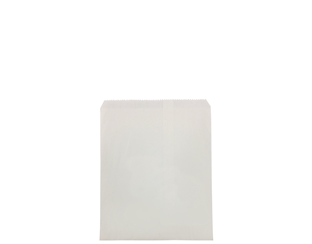 Flat White Paper Bags (Size #3)