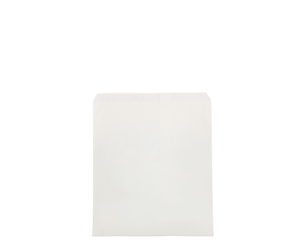 Flat White Paper Bags (Size #4)