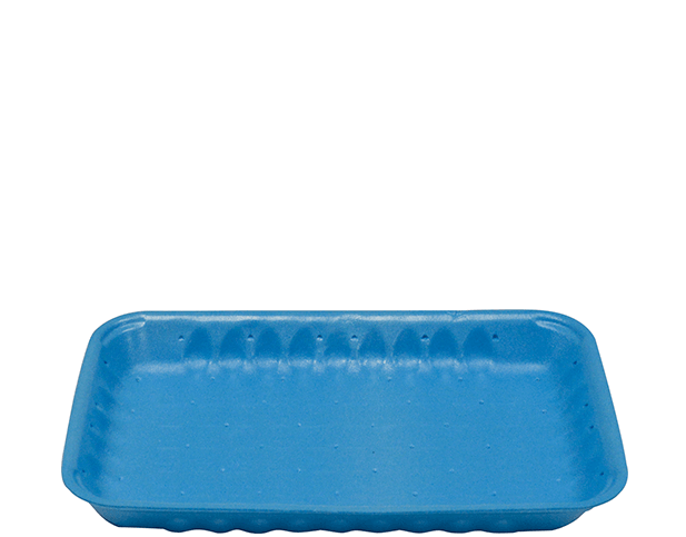 Foam Trays, Open Cell Laminated (Blue, 8 x 5 inches)