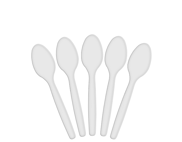 Costwise® Disposable Dessert Spoons, White