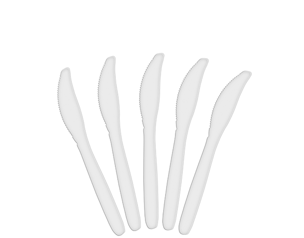 Costwise® Disposable Plastic Knife, White