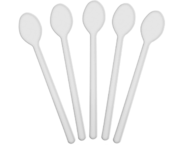 Costwise® Long Plastic Teaspoons, White