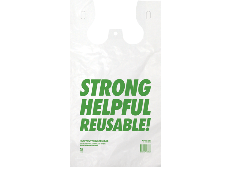 Costwise® Reusable Heavy-weight Plastic Singlet Bag - Large