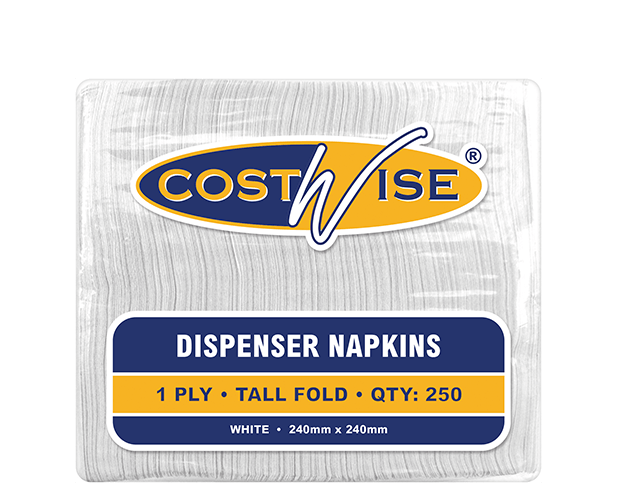 Costwise® Dispenser Paper Napkins, Tall Fold