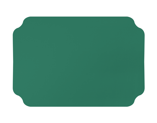 Parego® Placemats with Ritz design (Pine Green) | Castaway® Food Packaging