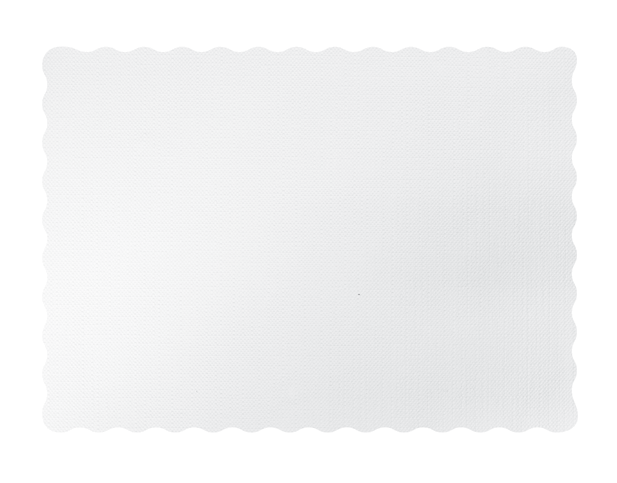 Parego® White Tray Mat with Scalloped Edge (350 x 485 mm)