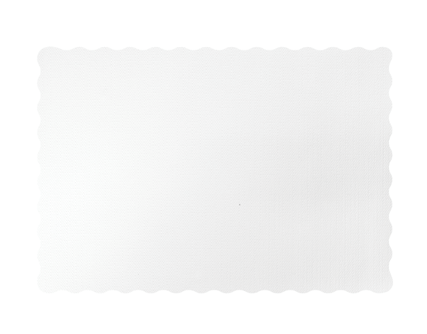 Parego® White Tray Mat with Scalloped Edge (300 x 430 mm)