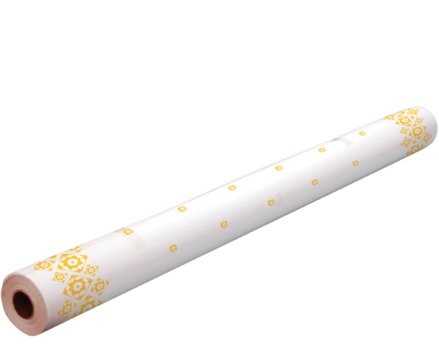 Parego Table Cover Roll - Gold Tile Pattern