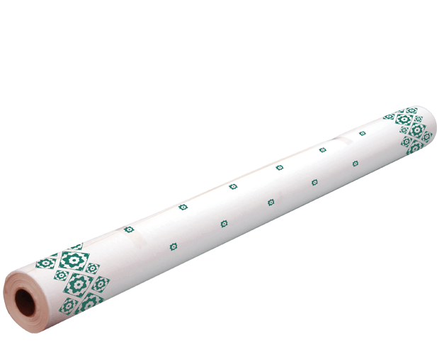 Parego Table Cover Roll - Green Tile Pattern