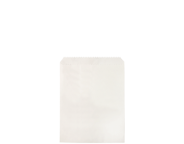 Greaseproof Lined Paper Bags (Size #1/2 Flat, White)