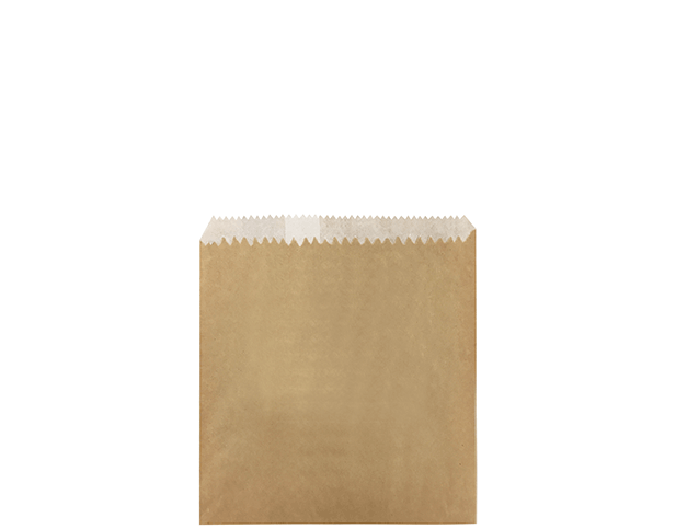 Greaseproof Lined Paper Bags (Size #1/2 Square Flat, Brown)