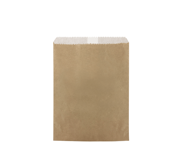Greaseproof Lined Paper Bags (Size #1 Long, Brown)