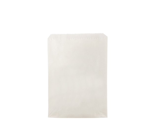 Greaseproof Lined Paper Bags (Size #1 Long, White)