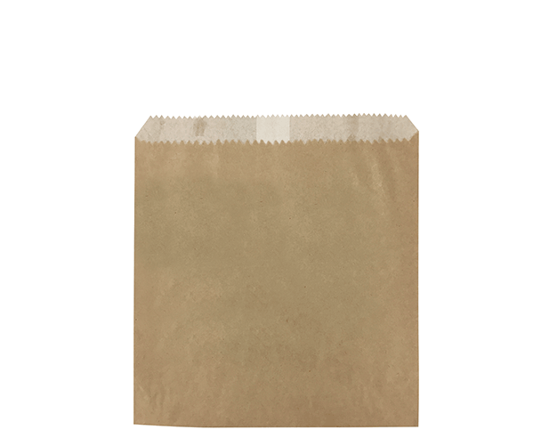 Greaseproof Lined Paper Bags (Size #1 Square Flat, Brown)