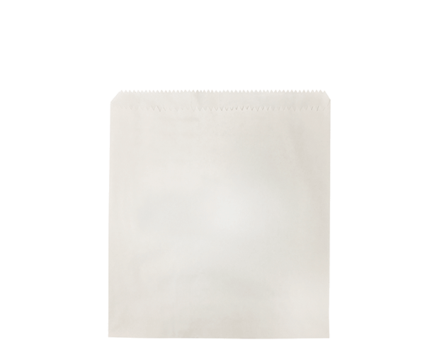 Greaseproof Lined Paper Bags (Size #1 Square, White)