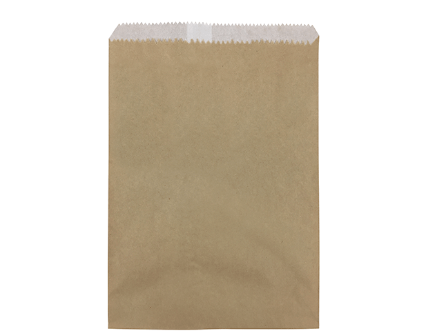 Greaseproof Lined Paper Bags (Size #2 Long, Brown)